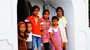 anak-anak nusa laut saat sekolah minggu